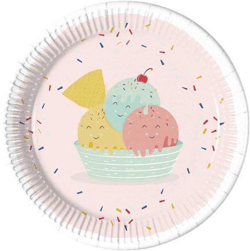Χάρτινα Πιάτα – Παγωτό (8 τμχ)